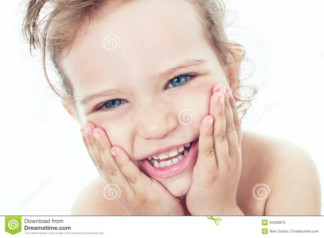 Happy Little Girl Royalty Free Stock Images - Image: 25396879