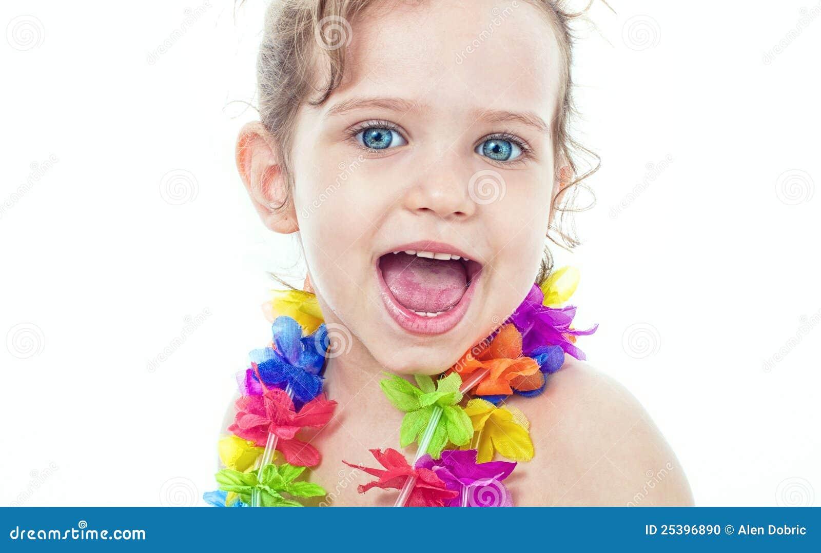 Happy Little Girl Stock Photo - Image: 25396890