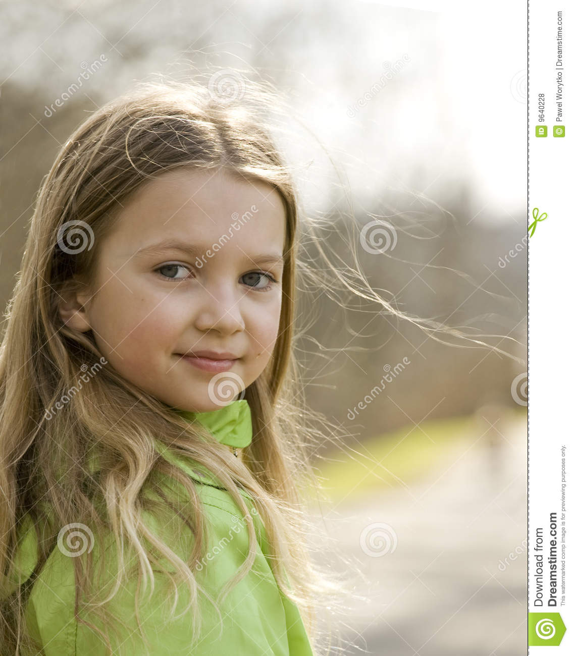 Happy Little Girl Royalty Free Stock Photos - Image: 9640228