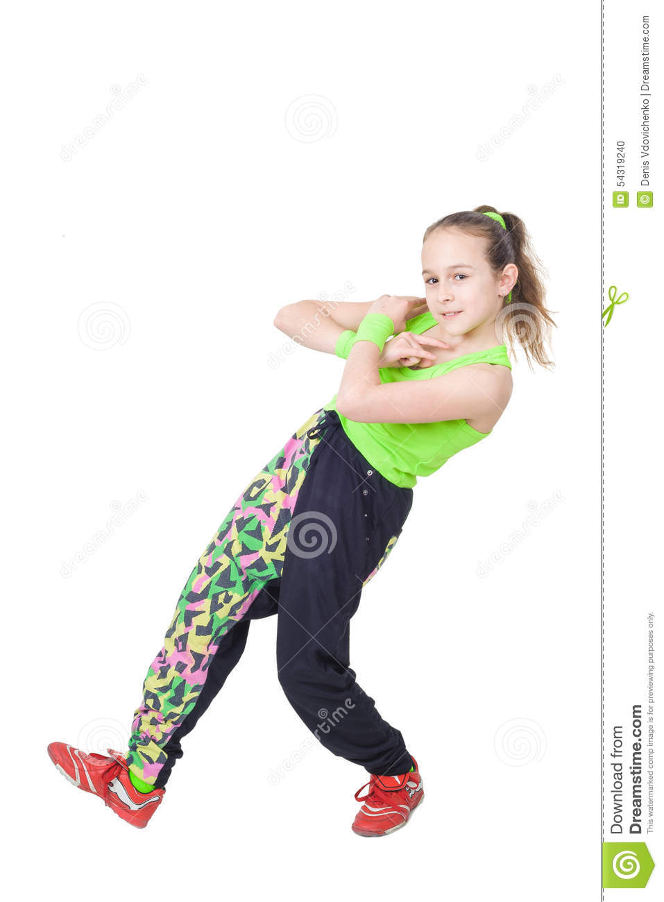 Populaire Happy Little Girl Dancing Hip-hop Stock Photo - Image: 54319240 KZ61