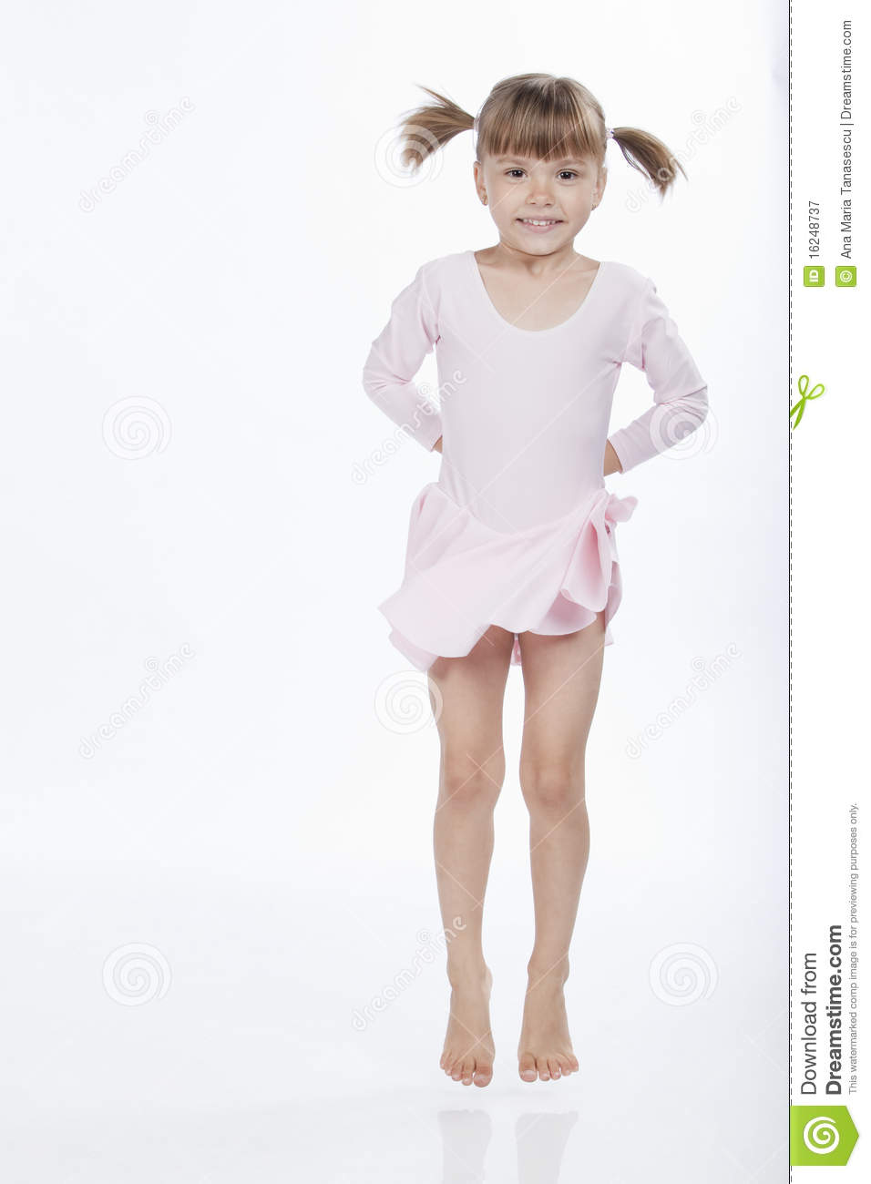 Happy Little Girl Jumping Royalty Free Stock Photography ...