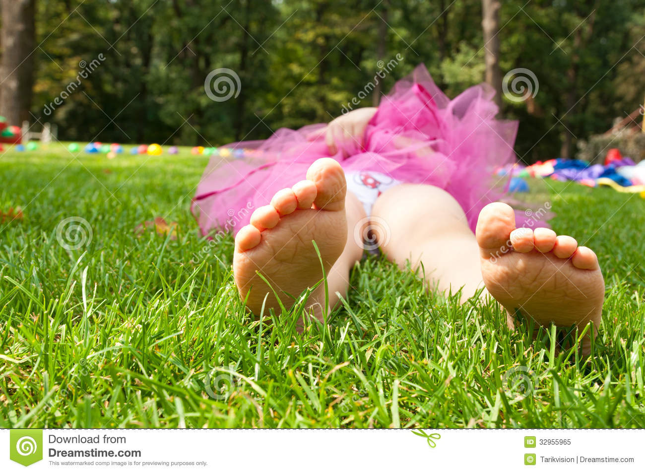 Happy Little Girl Lying On Green Grass Royalty Free Stock Photo ...: dreamstime.com/royalty-free-stock-photo-happy-little-girl-lying...