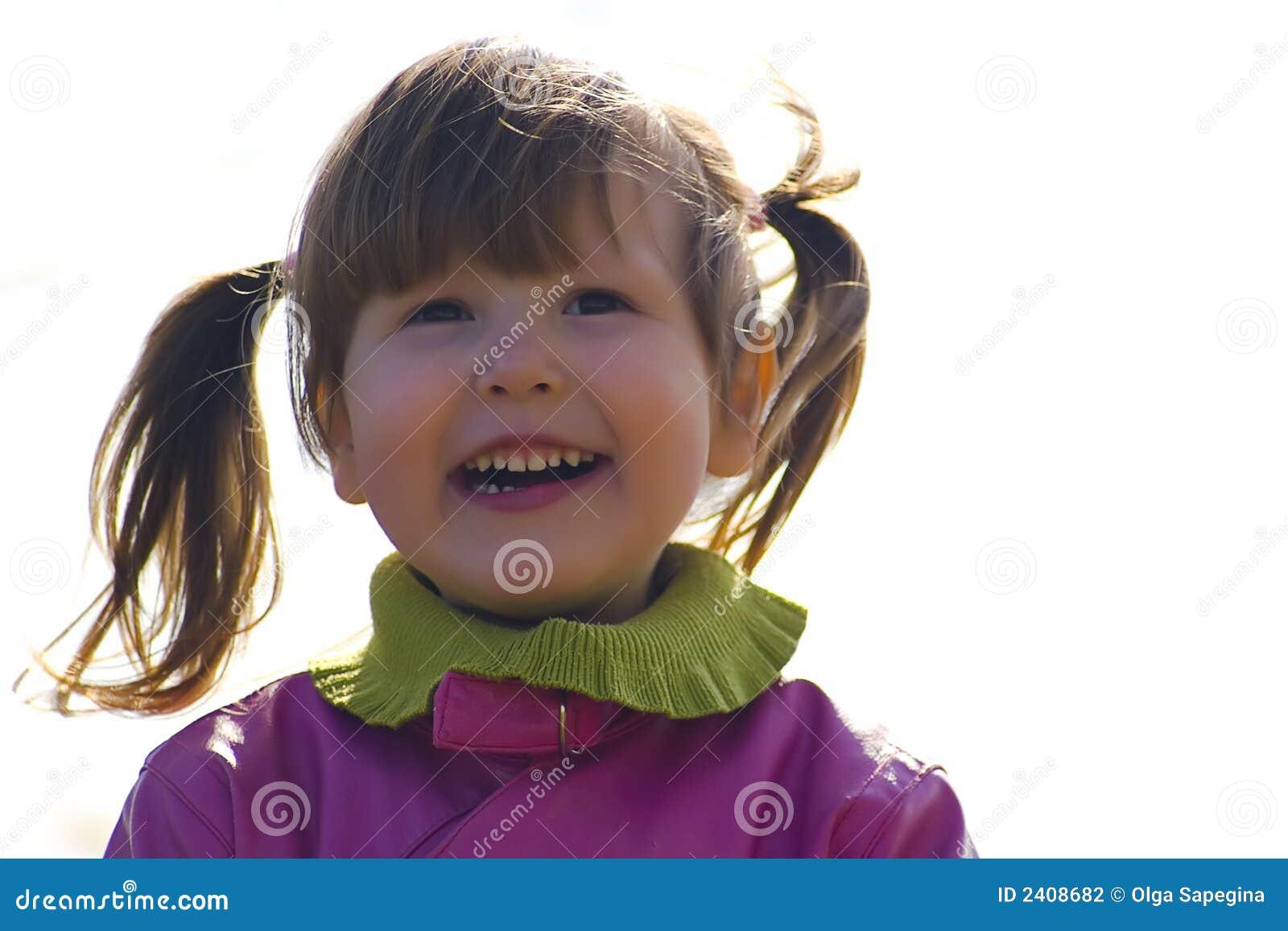 Happy Little Girl Outside Stock Photography - Image: 2408682