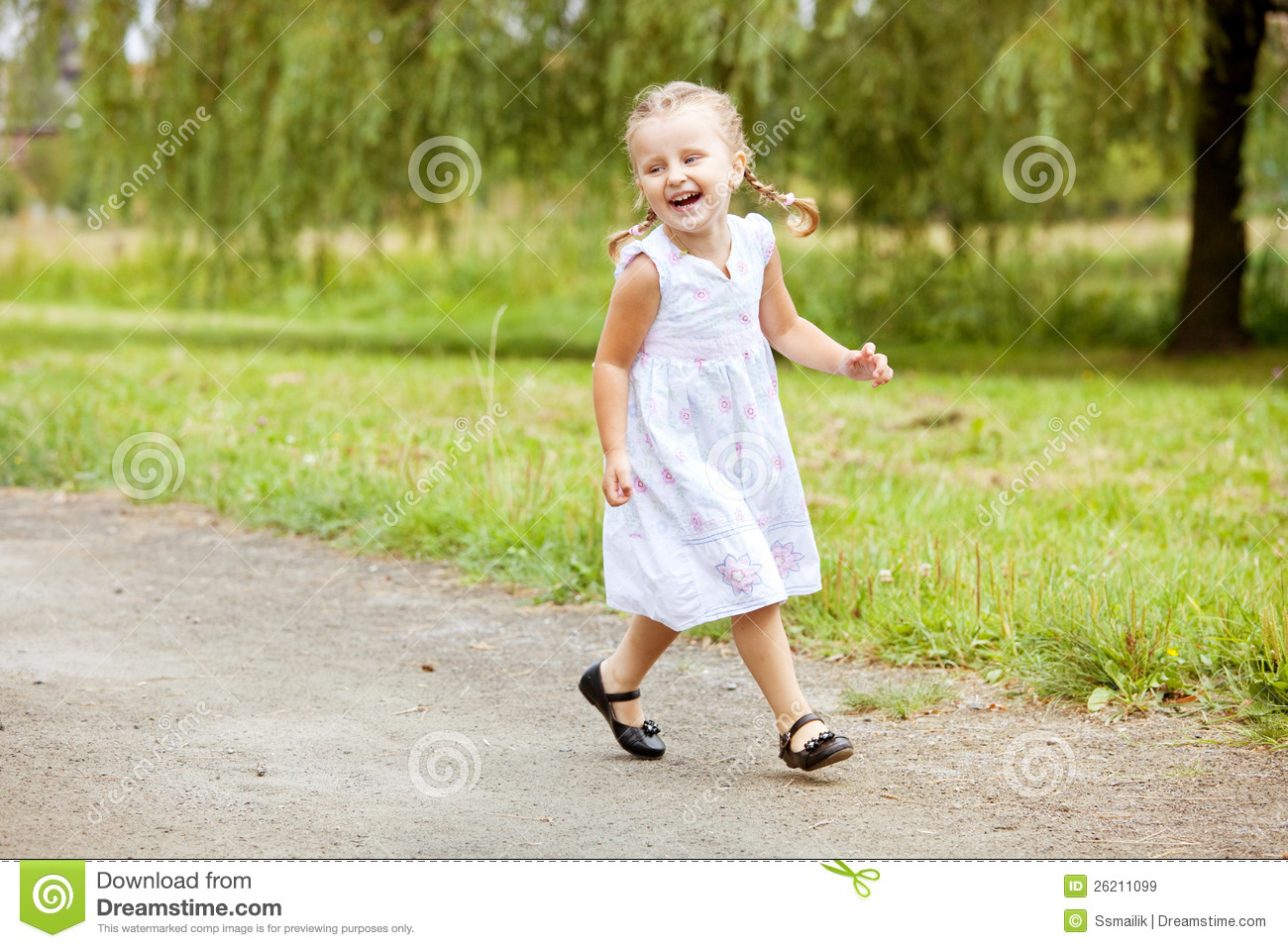 Child running away from home - Royalty Free Stock Photo