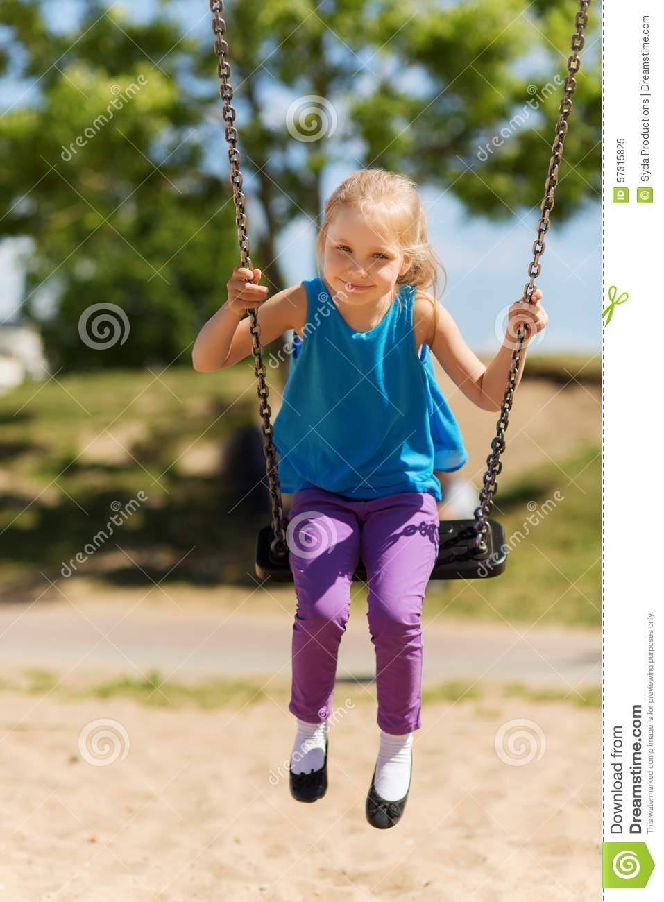Prompt reply swinging at the playground think, that