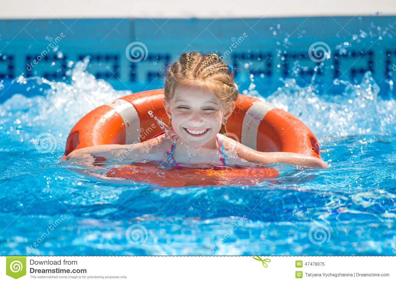 Happy Little Girl In A Wetsuit Stock Image - Image of active ... 89a9da3ab