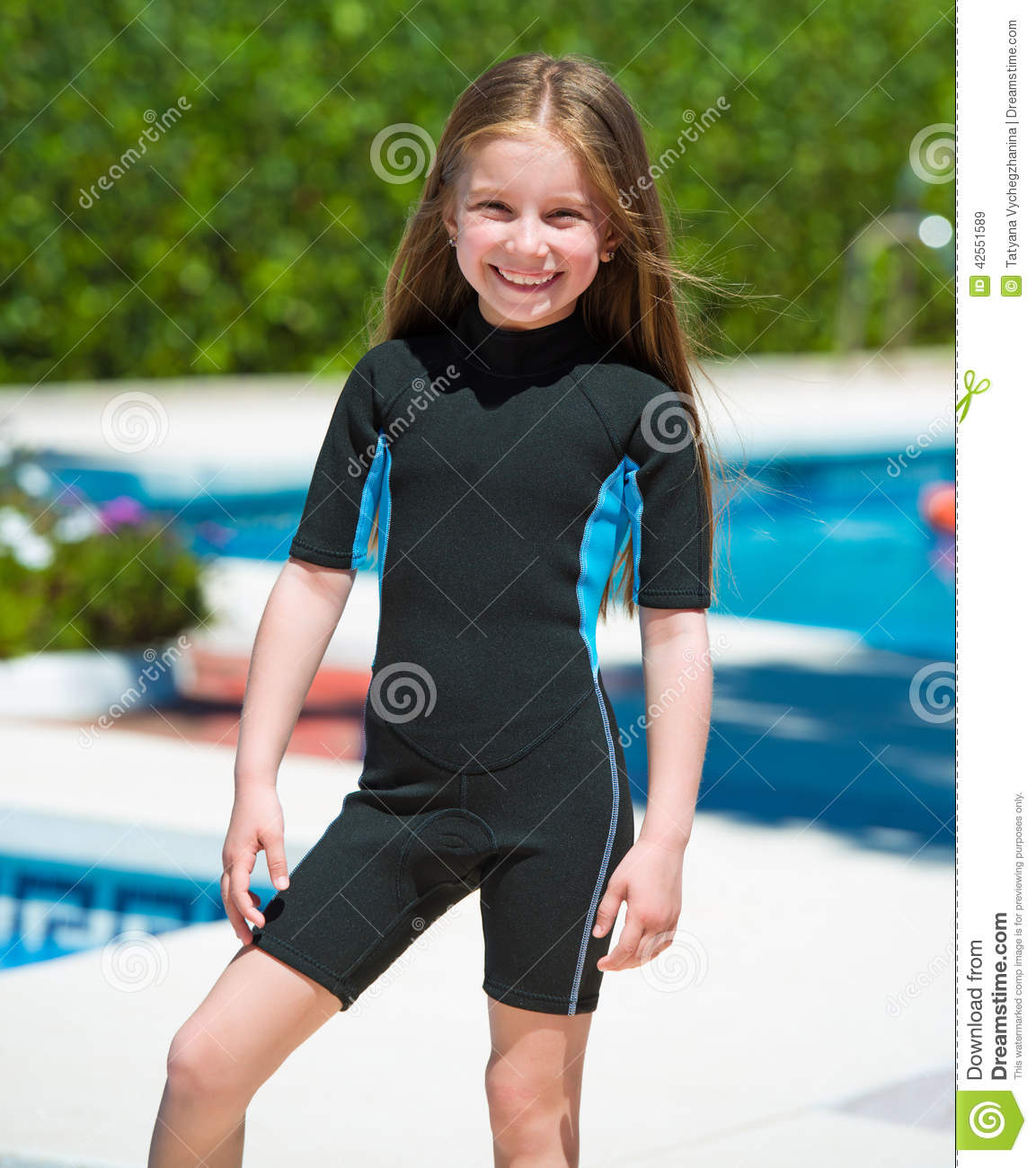 Happy little girl in a wetsuit stock image image 42551589 Tiny girl teen
