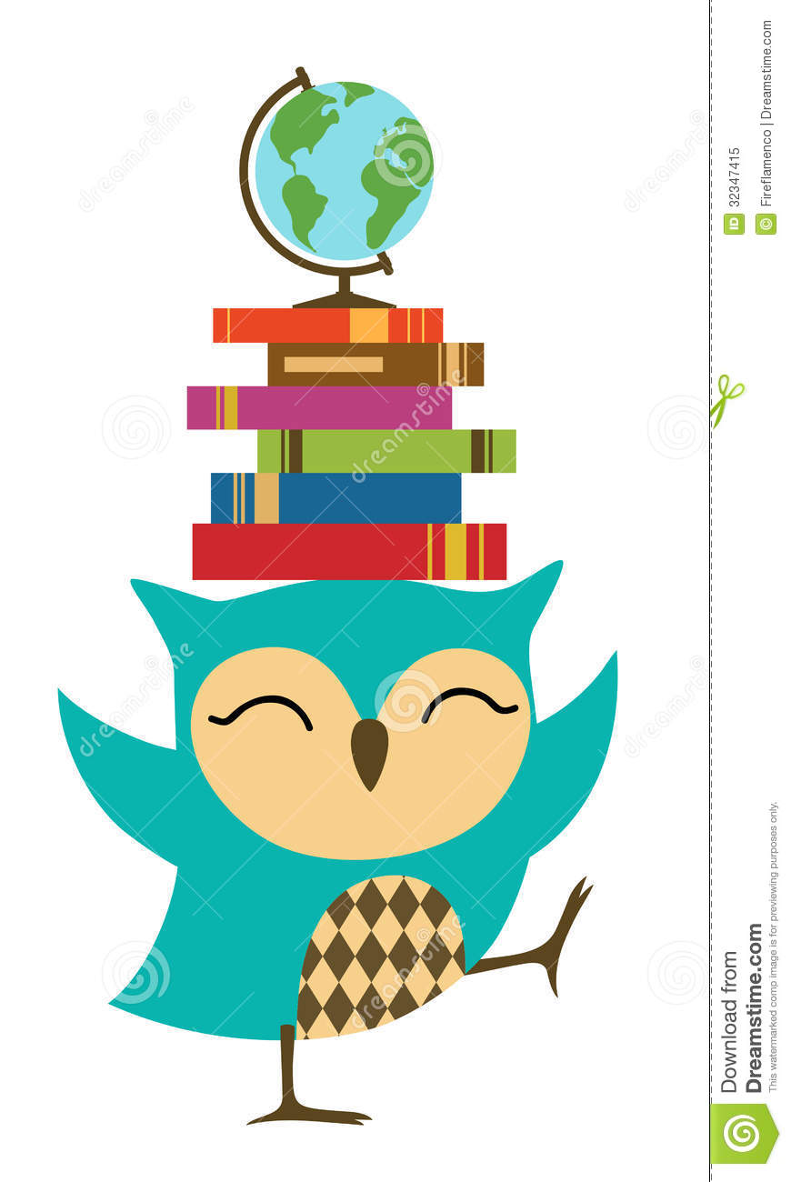 Happy Little Owl - Back To School Royalty Free Stock Photo - Image ...