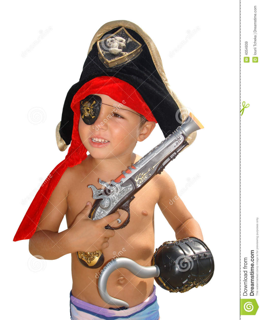 Happy Little Pirate.Isolated