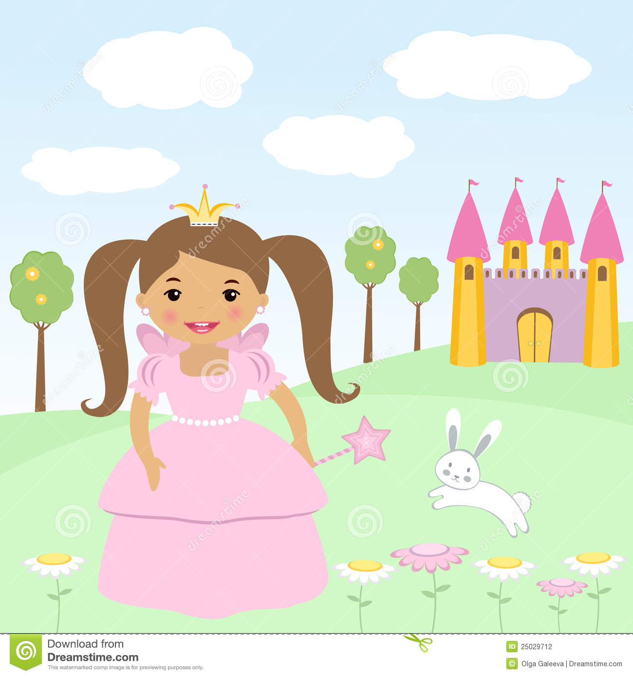 Happy little princess stock photography image 25029712 for Small princess