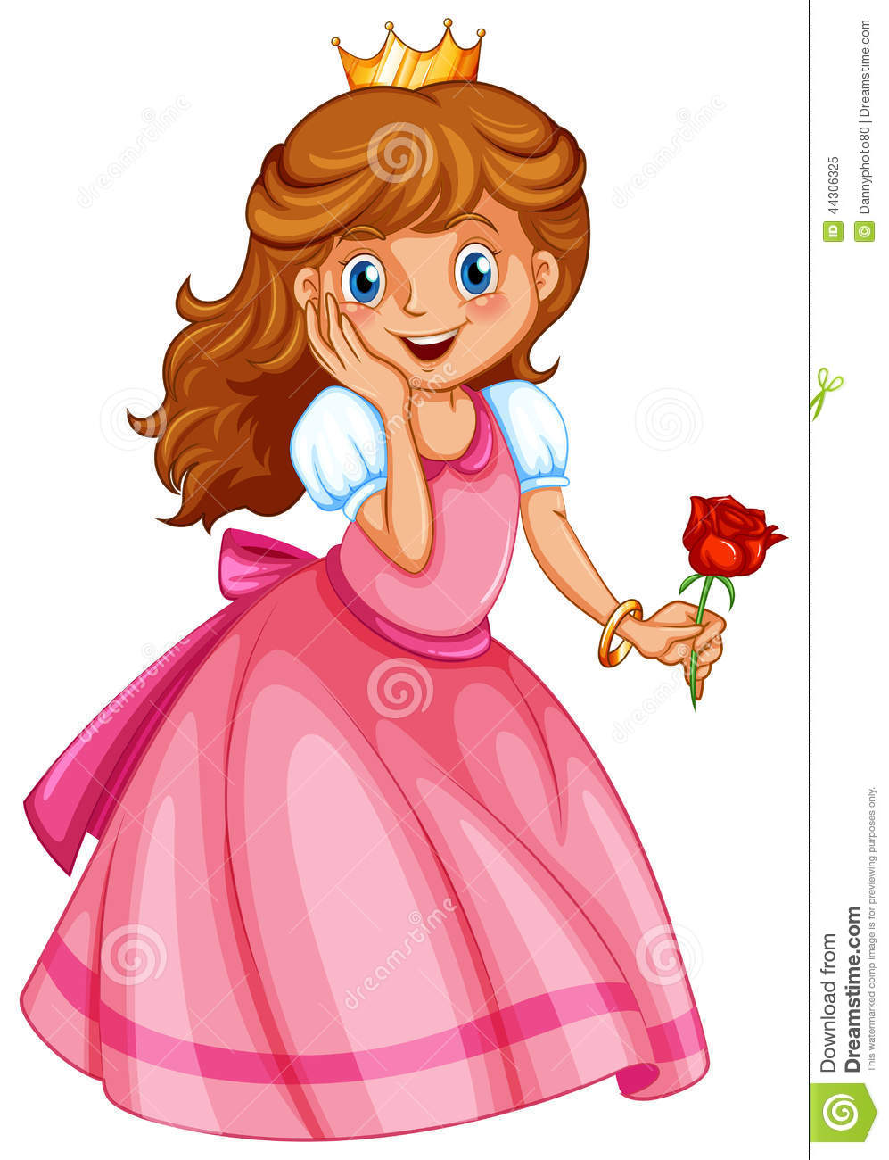 A happy little princess stock illustration image 44306325 - Images princesse ...