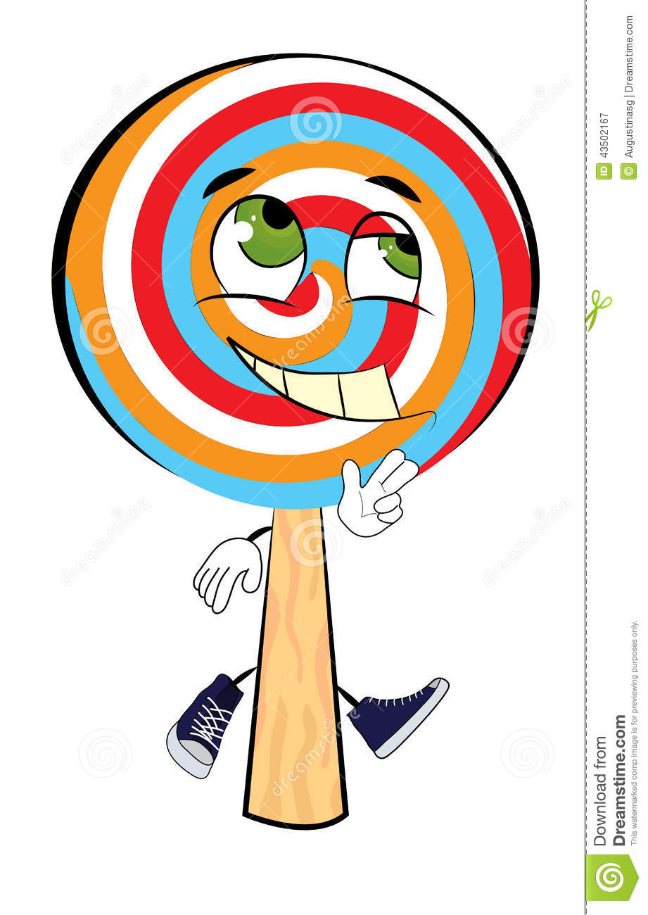 happy lollipop cartoon stock illustration   image 43502167