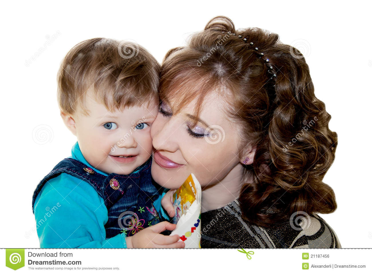Happy loving mother with her child