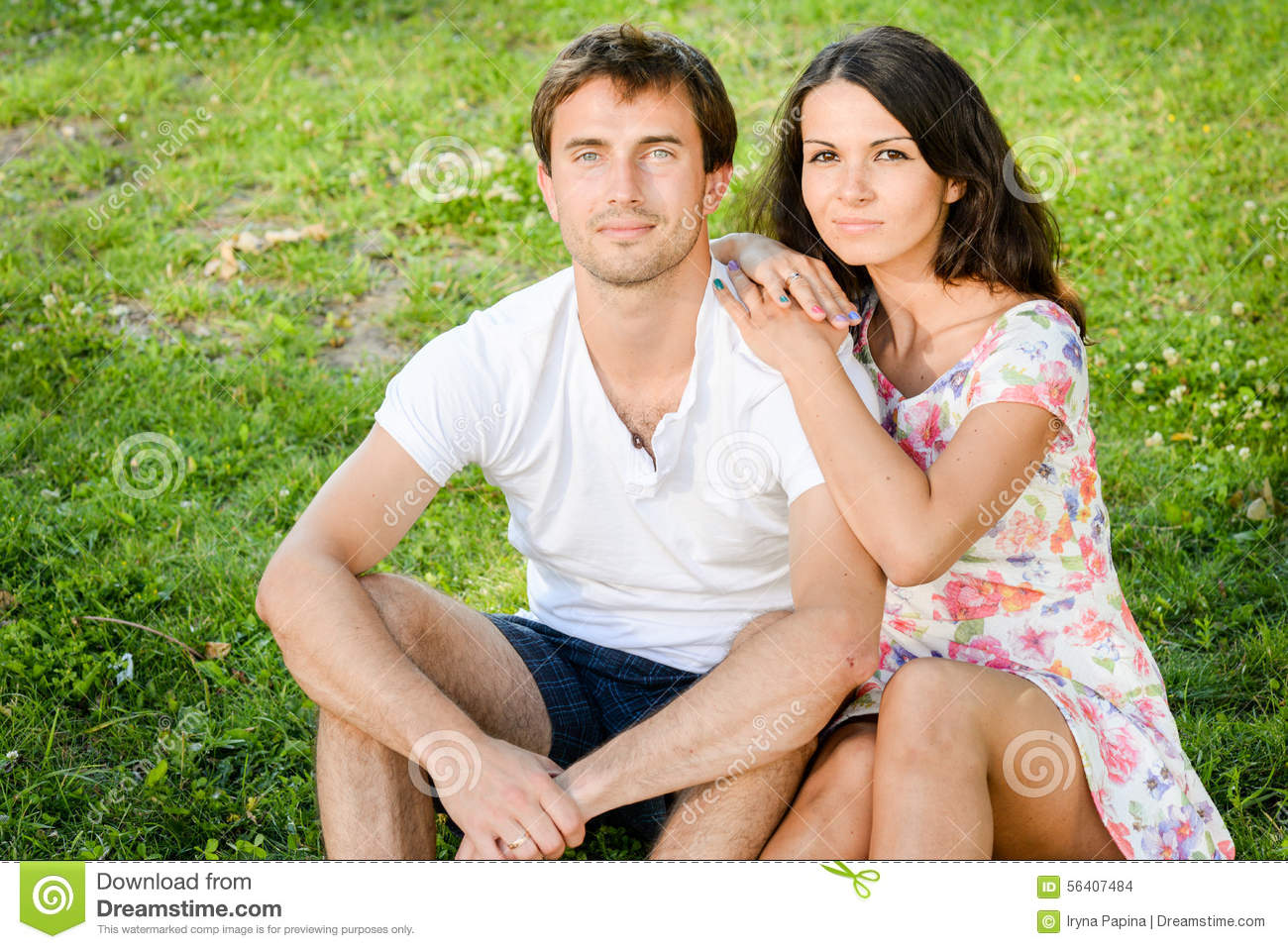 Happy loving young couple outdoors