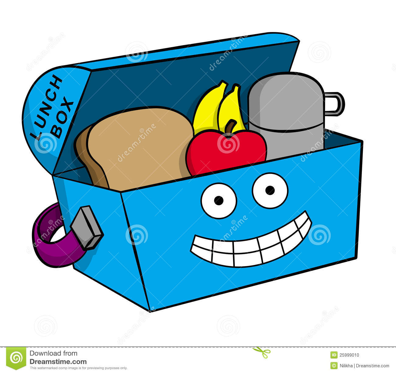 Happy Lunchbox Stock Photo - Image: 25999010