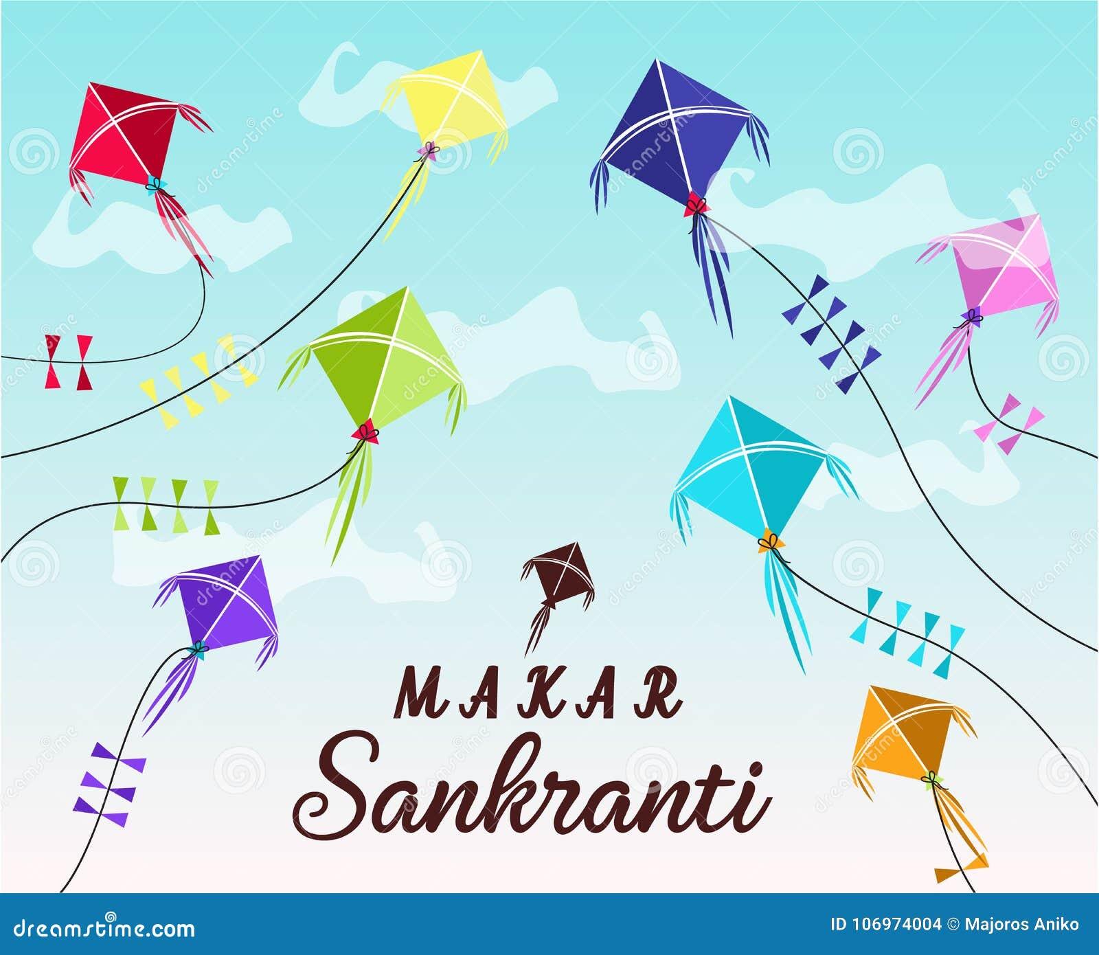 Happy makar sankranti card stock vector illustration of pongal happy makar sankranti greeting card or background vector illustration m4hsunfo