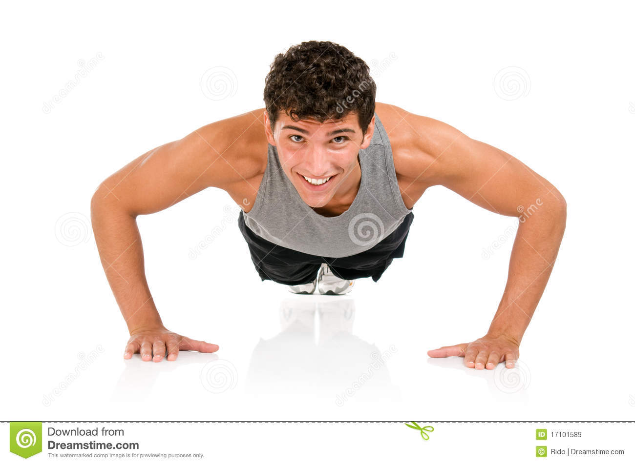 Basketball Gym Floor Plans Happy Man Doing Push Ups Royalty Free Stock Images Image
