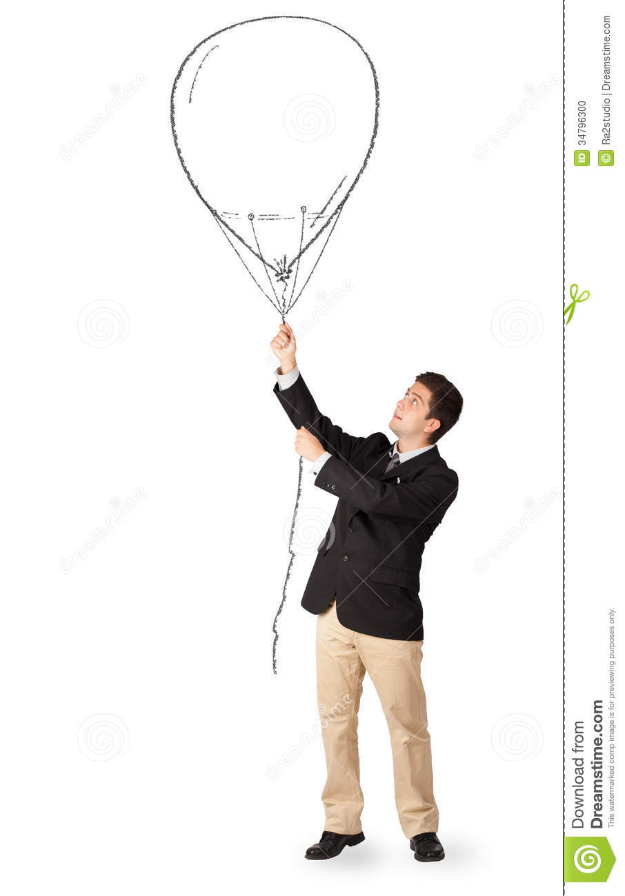 happy-man-holding-balloon-drawing-suit-3