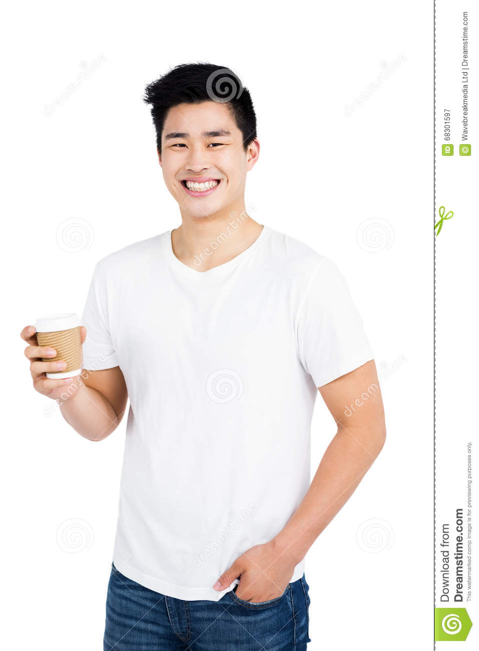 happy-man-holding-disposable-coffee-cup-