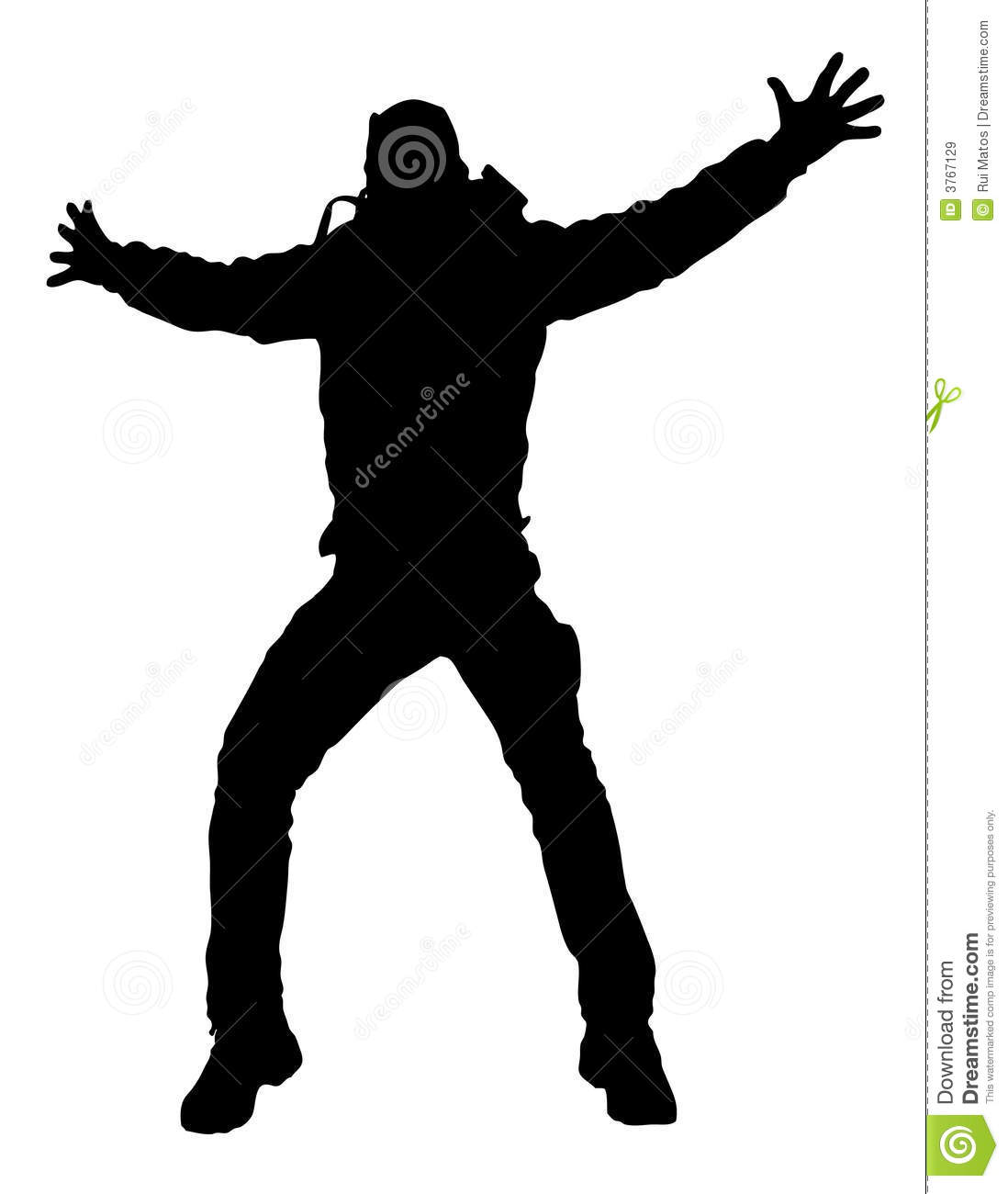 Happy Man jumping silhouette
