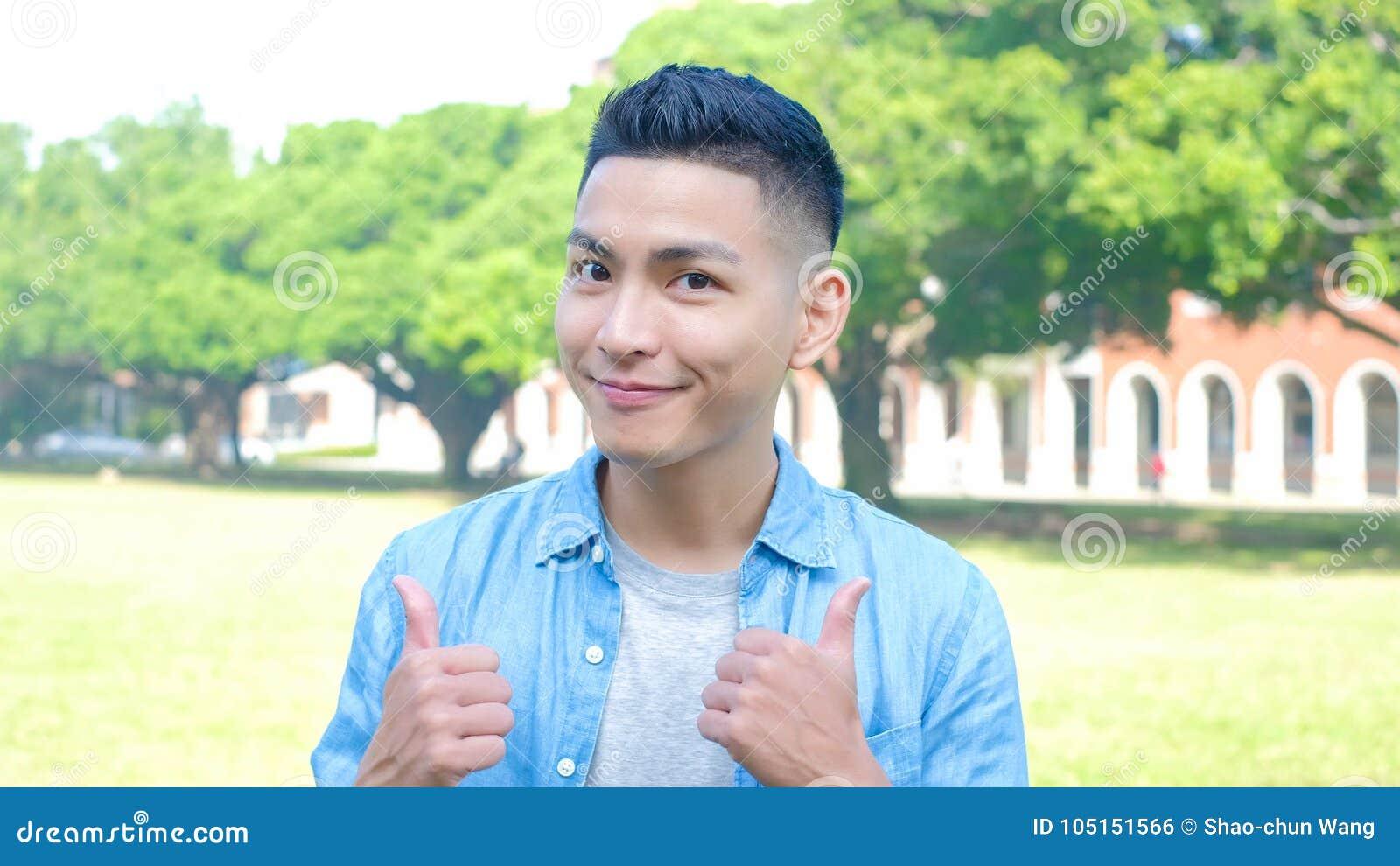 Happy man student