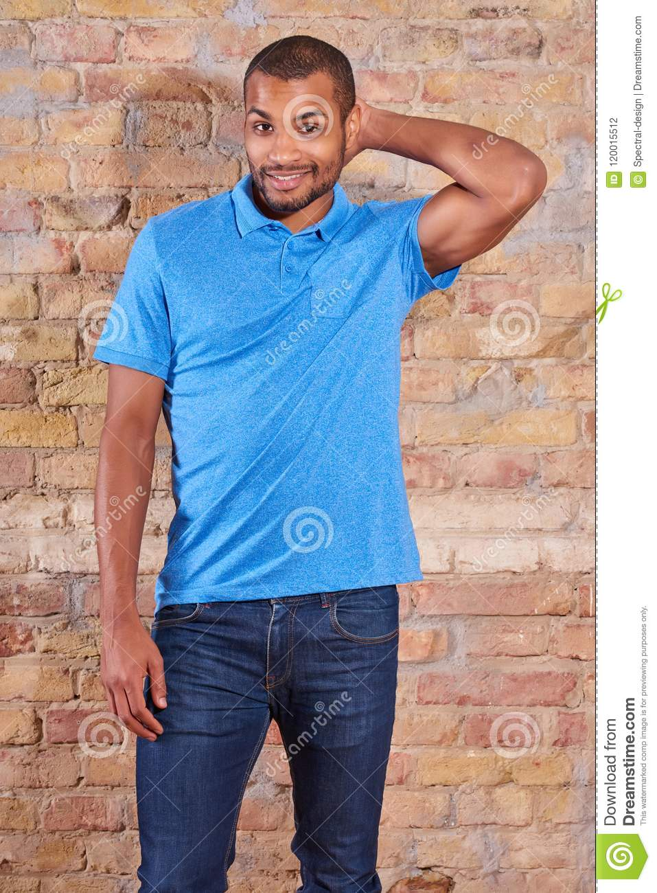 Download Happy man in a tshirt stock photo. Image of lifestyle - 120015512