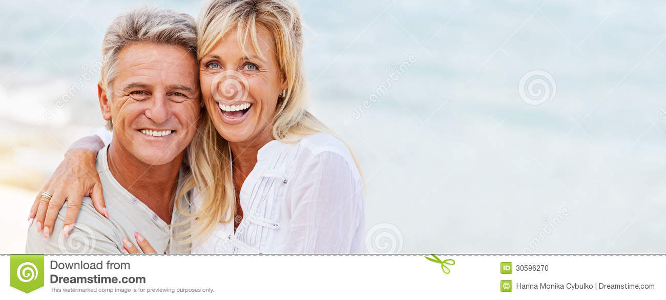 Couple Mature happy mature couple stock photo. image of close, beach - 30596270