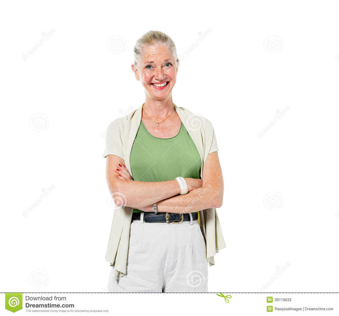 Happy Mature Woman Posing