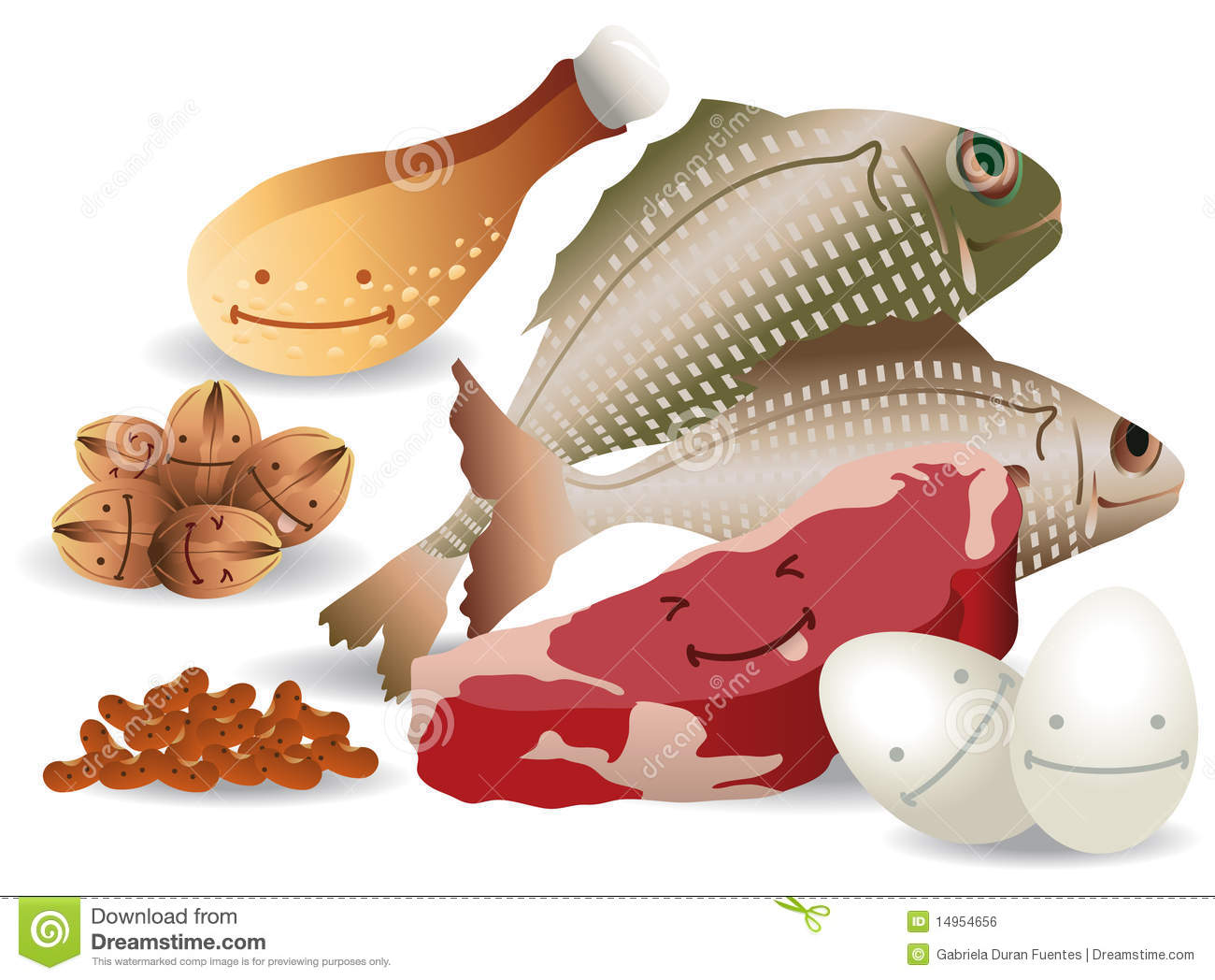 Happy meat eggs nuts beans royalty free stock image for Happy fish and chicken