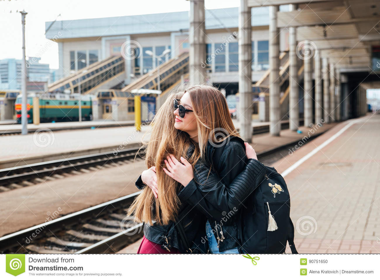 when best friends see each other after a long time