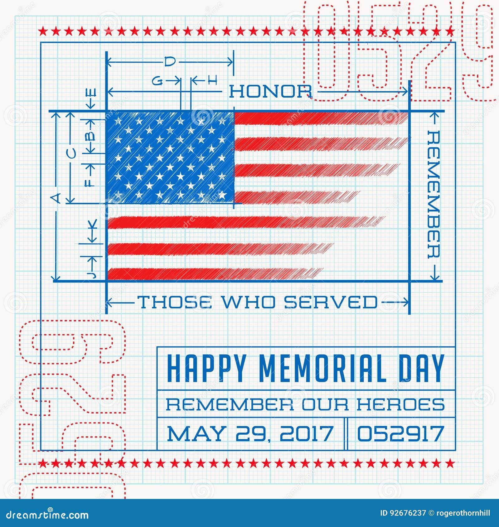Happy Memorial Day Stock Vector Illustration Of American 92676237