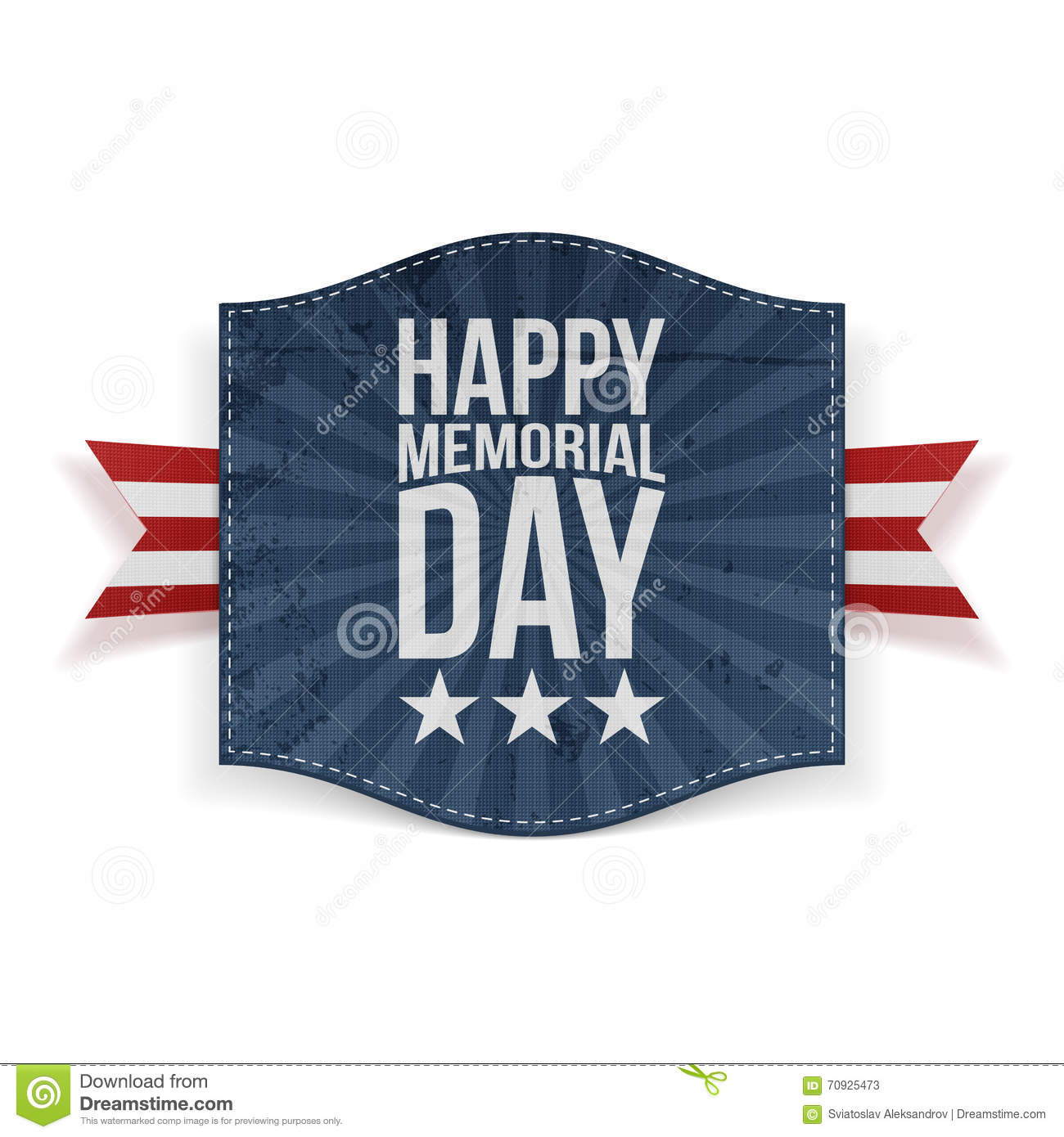 memorial day weekend  banner stock vector  image: 70298704
