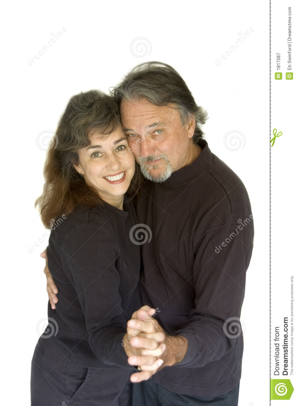 Happy middle aged couple.