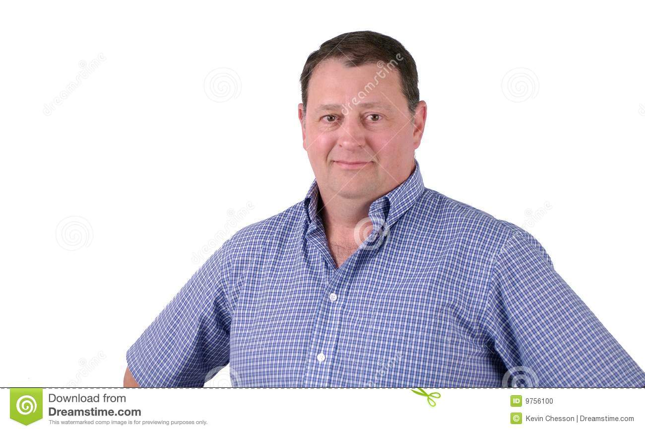 Happy Middle Aged Man Stock Photo - Image: 9756100