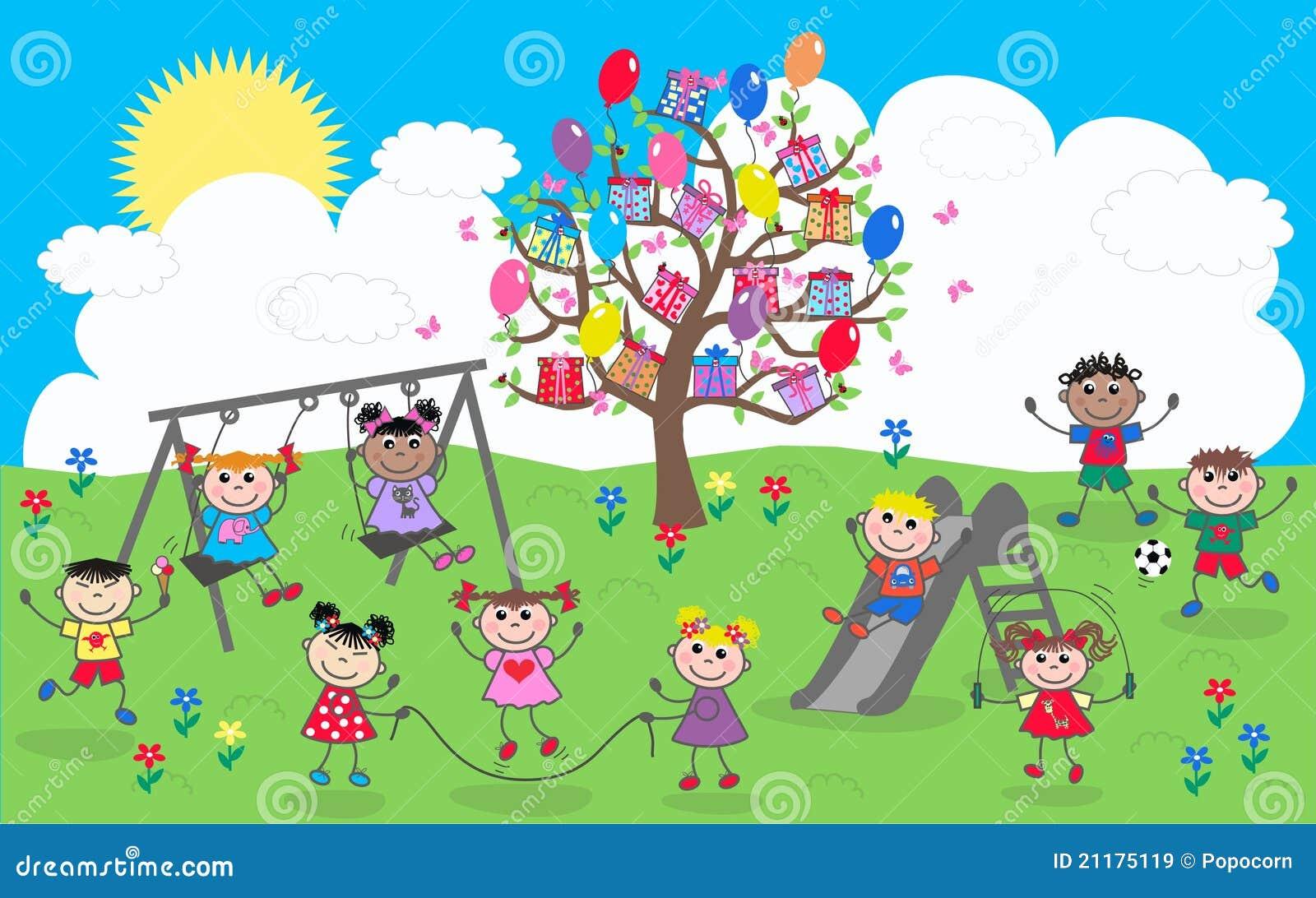 Happy mixed ethnic children
