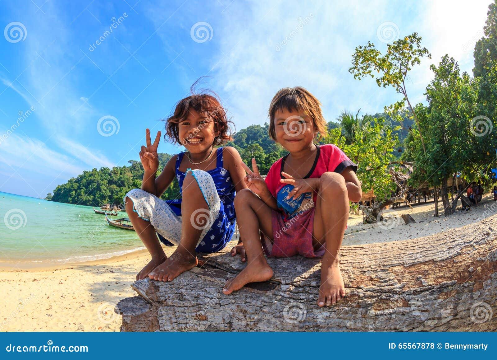 Happy Moken Children