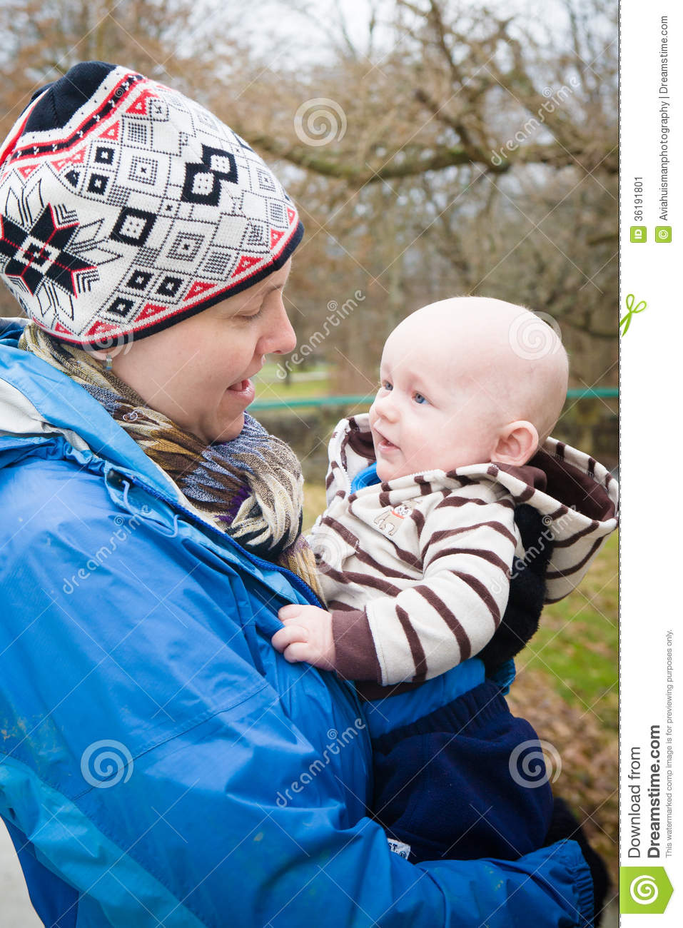 Happy Mom And Baby Talking Stock Image Image 36191801