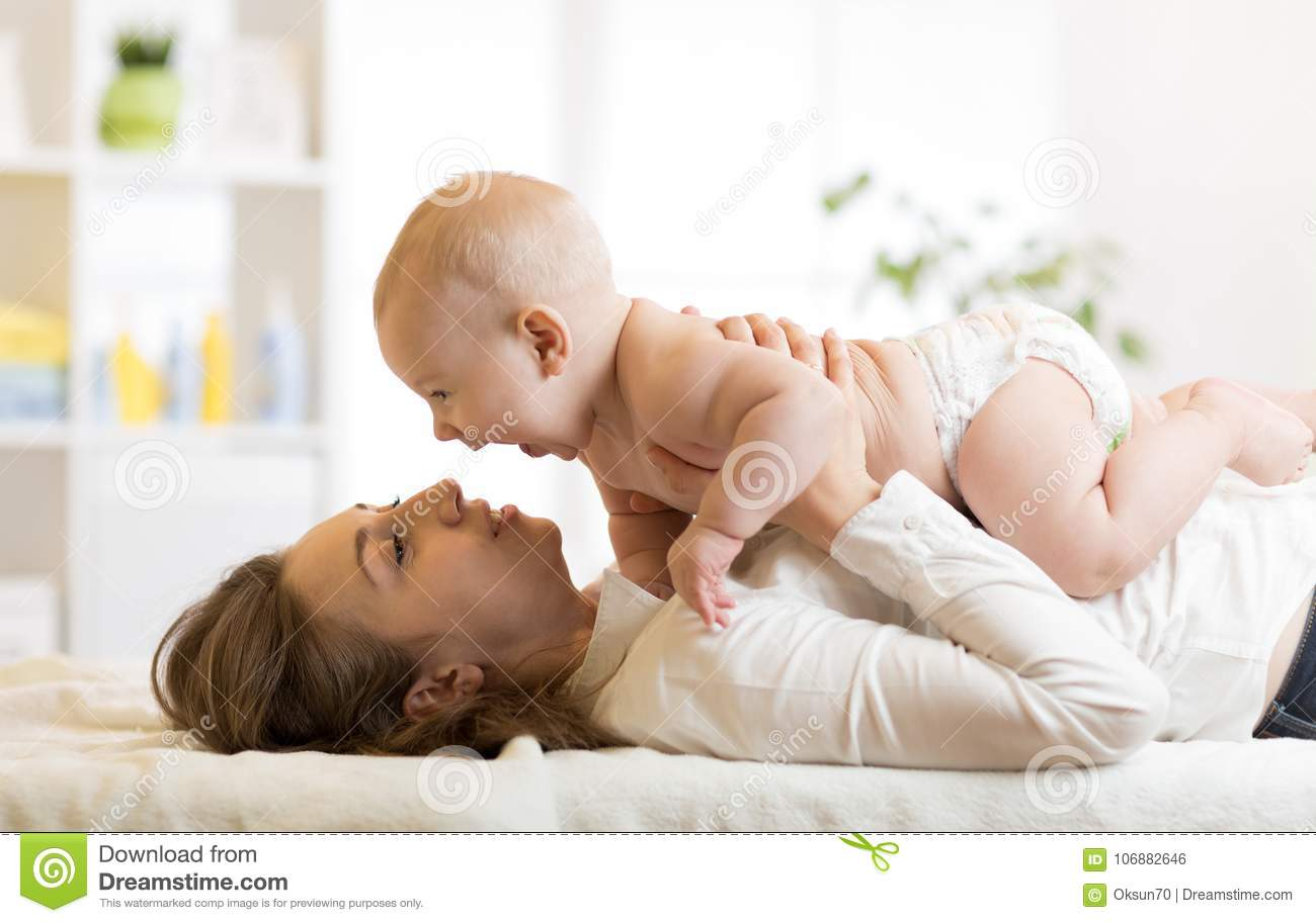 Morning is a special time for mother and baby