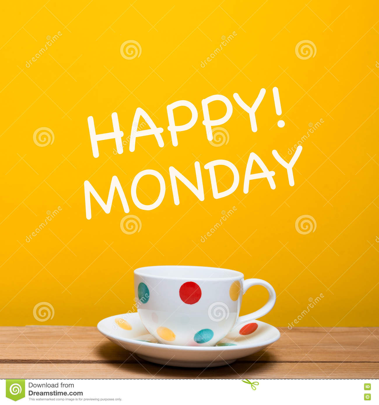 Happy monday word with coffee cup stock photo image of coffe happy monday word with coffee cup voltagebd Gallery