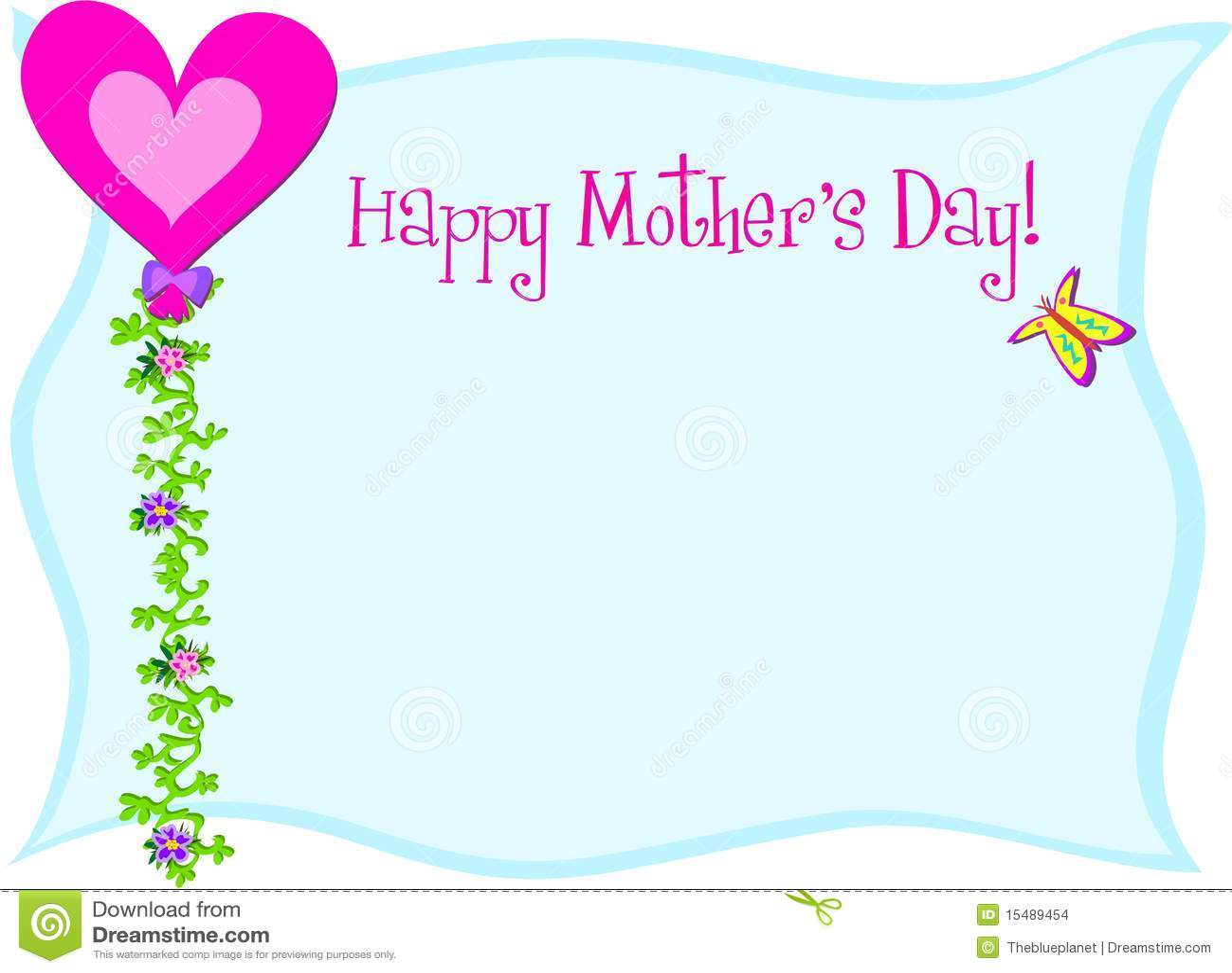Happy Mothers Day Heart Balloon Stock Vector Illustration Of