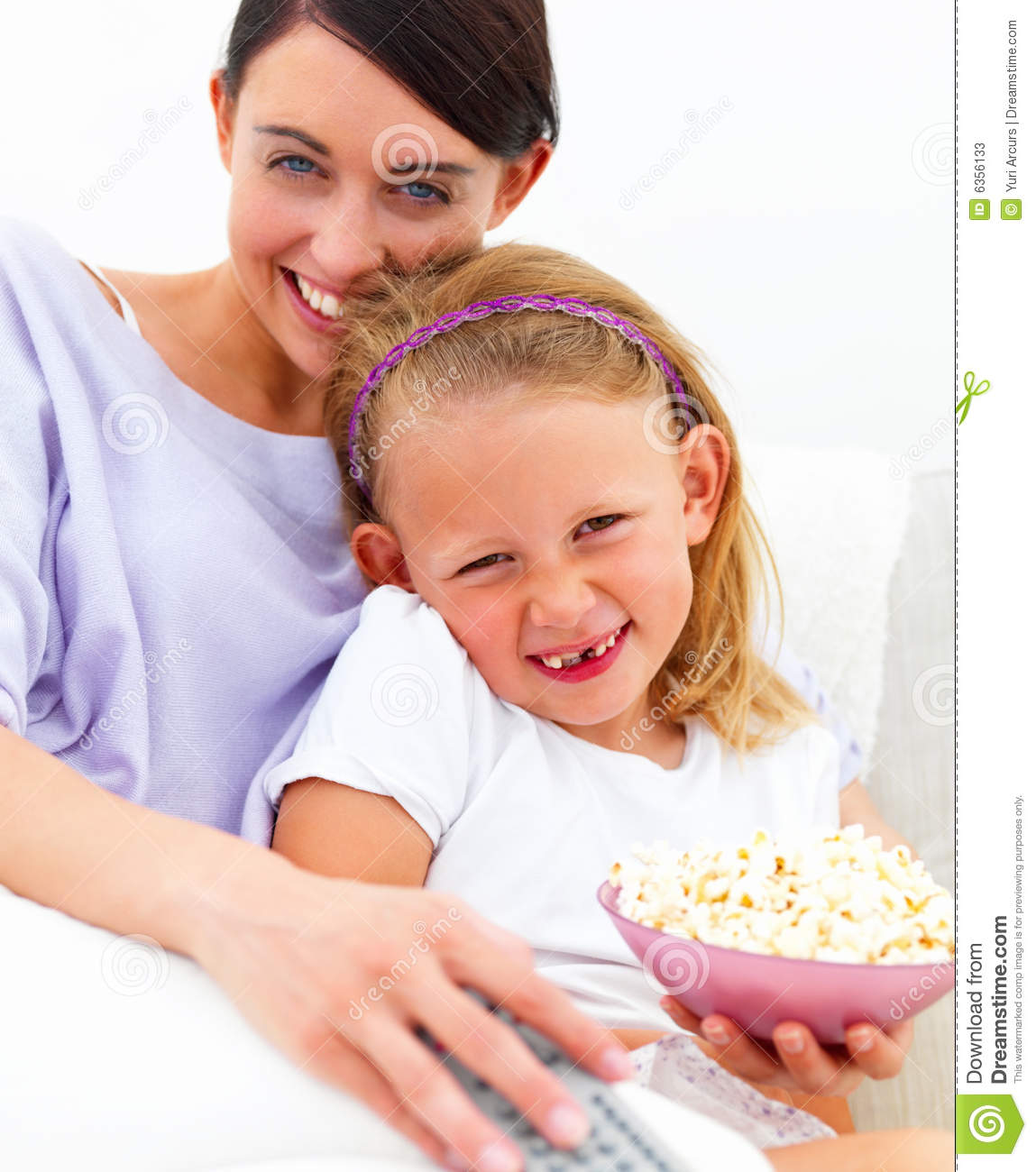 Young Happy Beautiful Family Playing Together On The Beach: Happy Mother And Daughter Sitting Together Stock Image