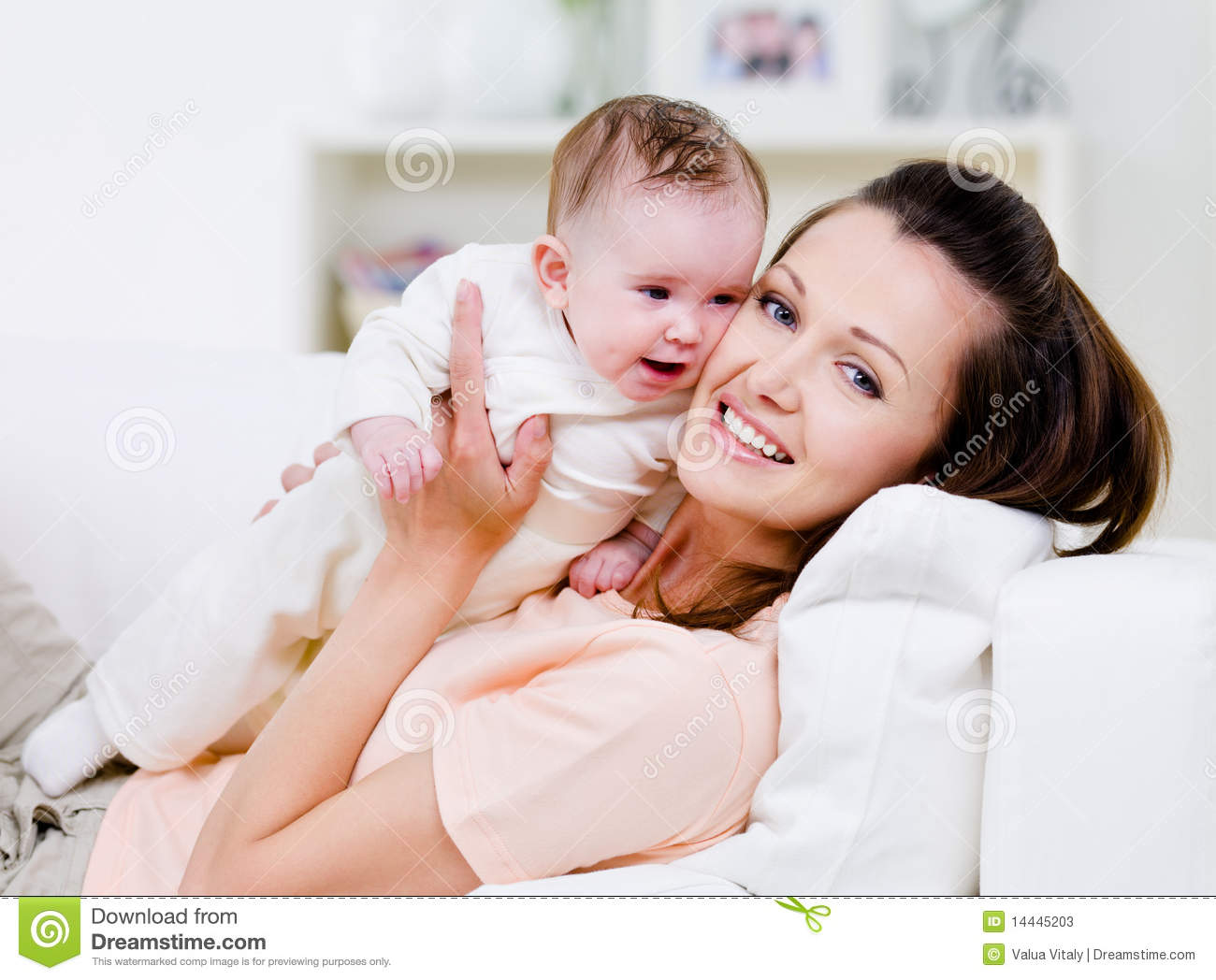 Happy Mother With Little Baby Stock Photos - Image: 14445203