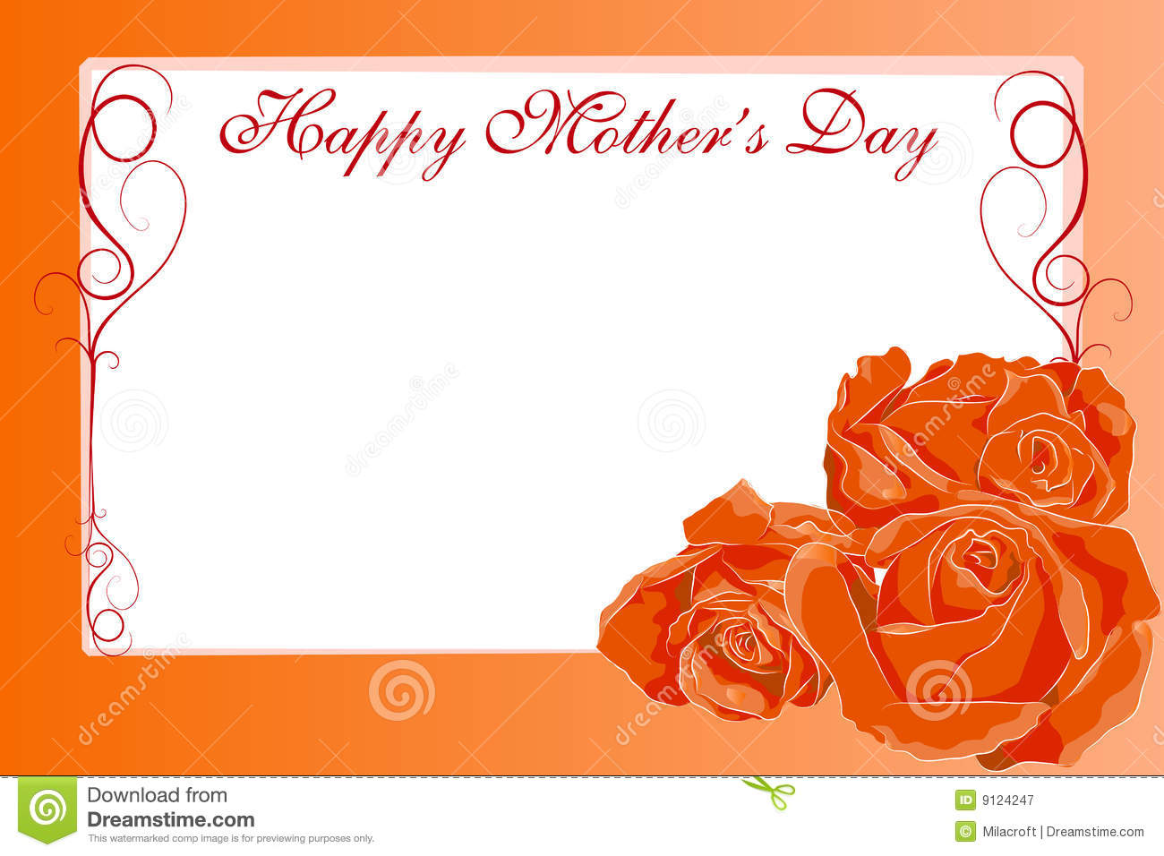 Happy Mother\'s Day stock vector. Illustration of feeling - 9124247