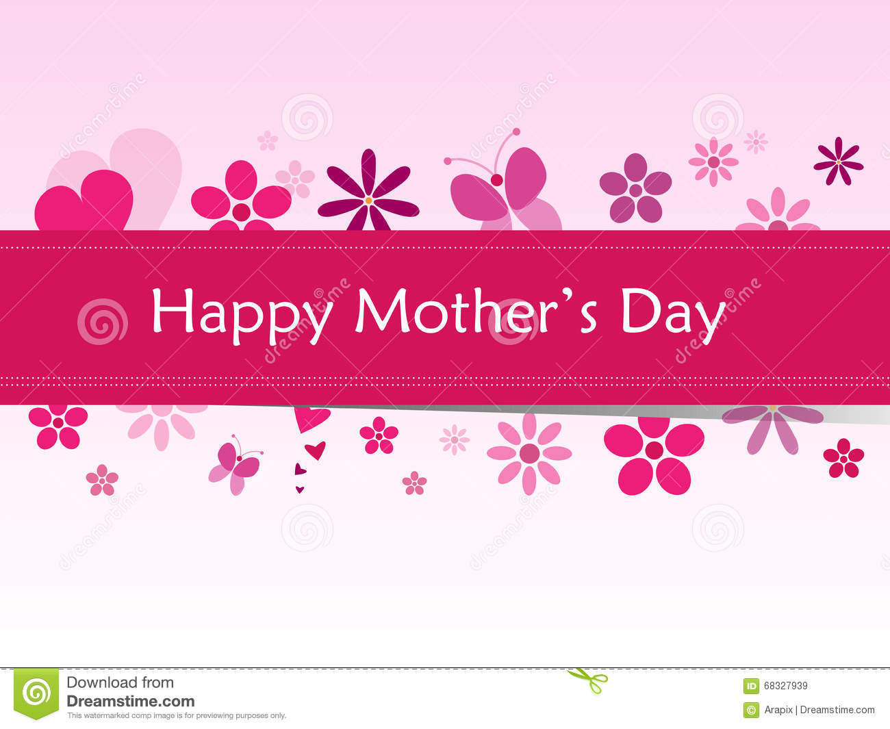 Happy Mother's Day Stock Vector - Image: 68327939