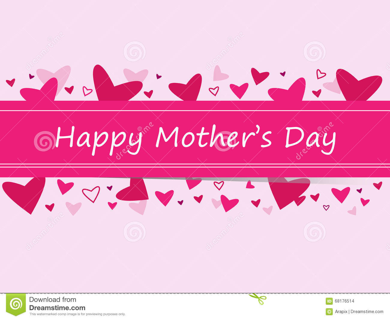 Happy Mother's Day Stock Vector - Image: 68176514