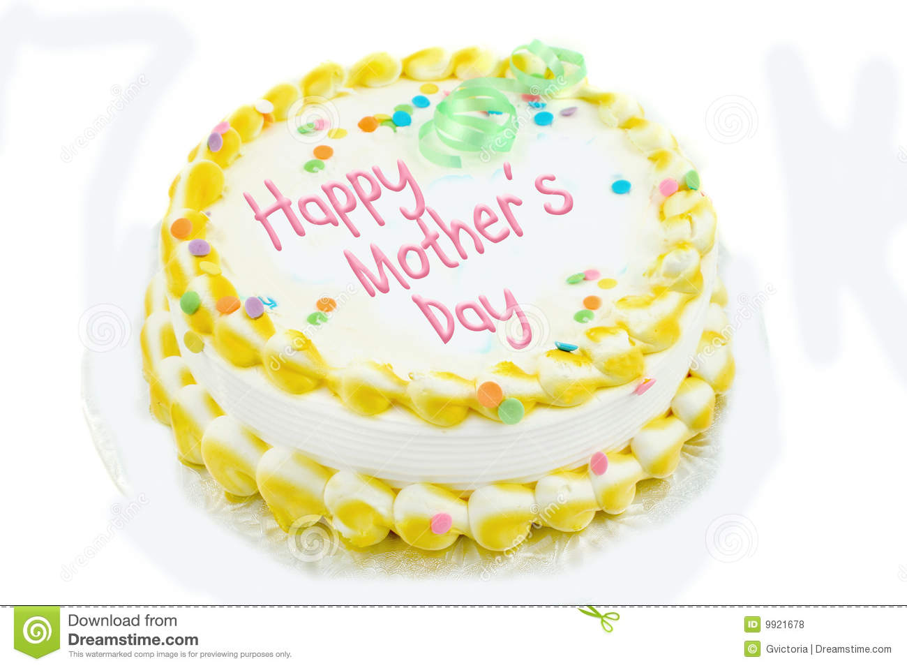 Happy Mothers Day Cake Stock Photo Image Of Isolated 9921678