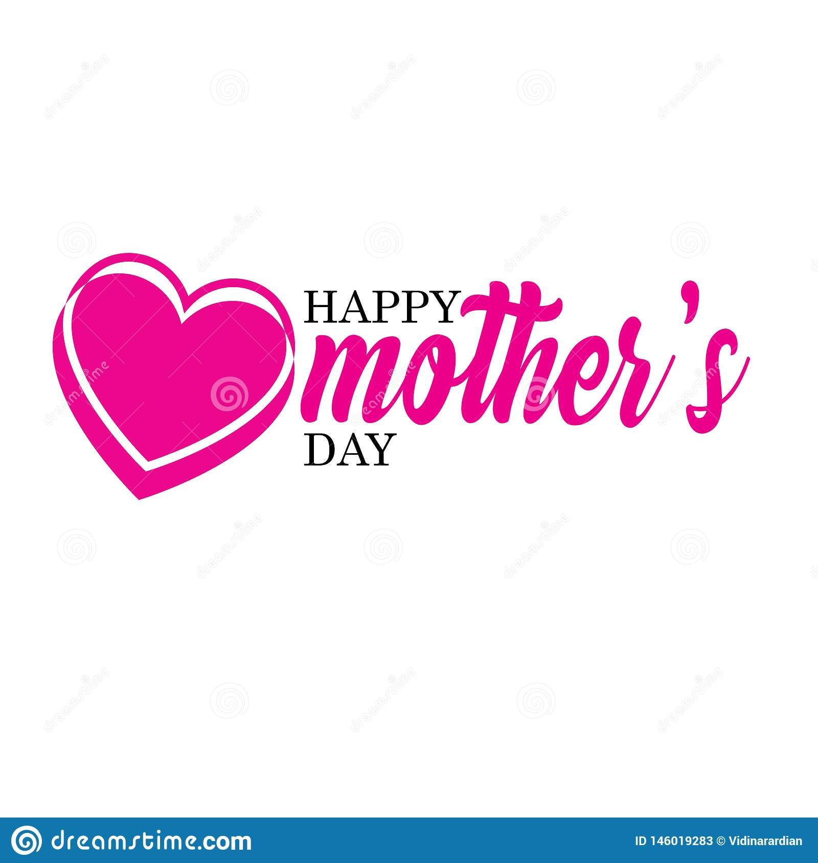 Happy Mother`s Day Calligraphy Background - Vector