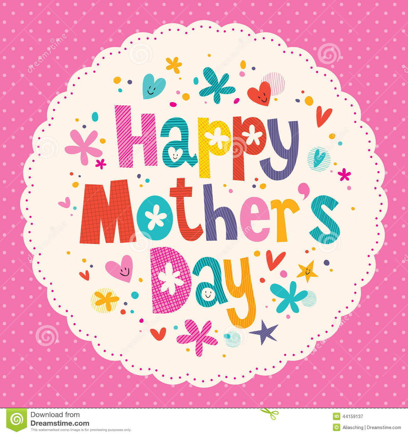 Happy mothers day card stock vector illustration of copy 44159137 happy mother s day card maxwellsz