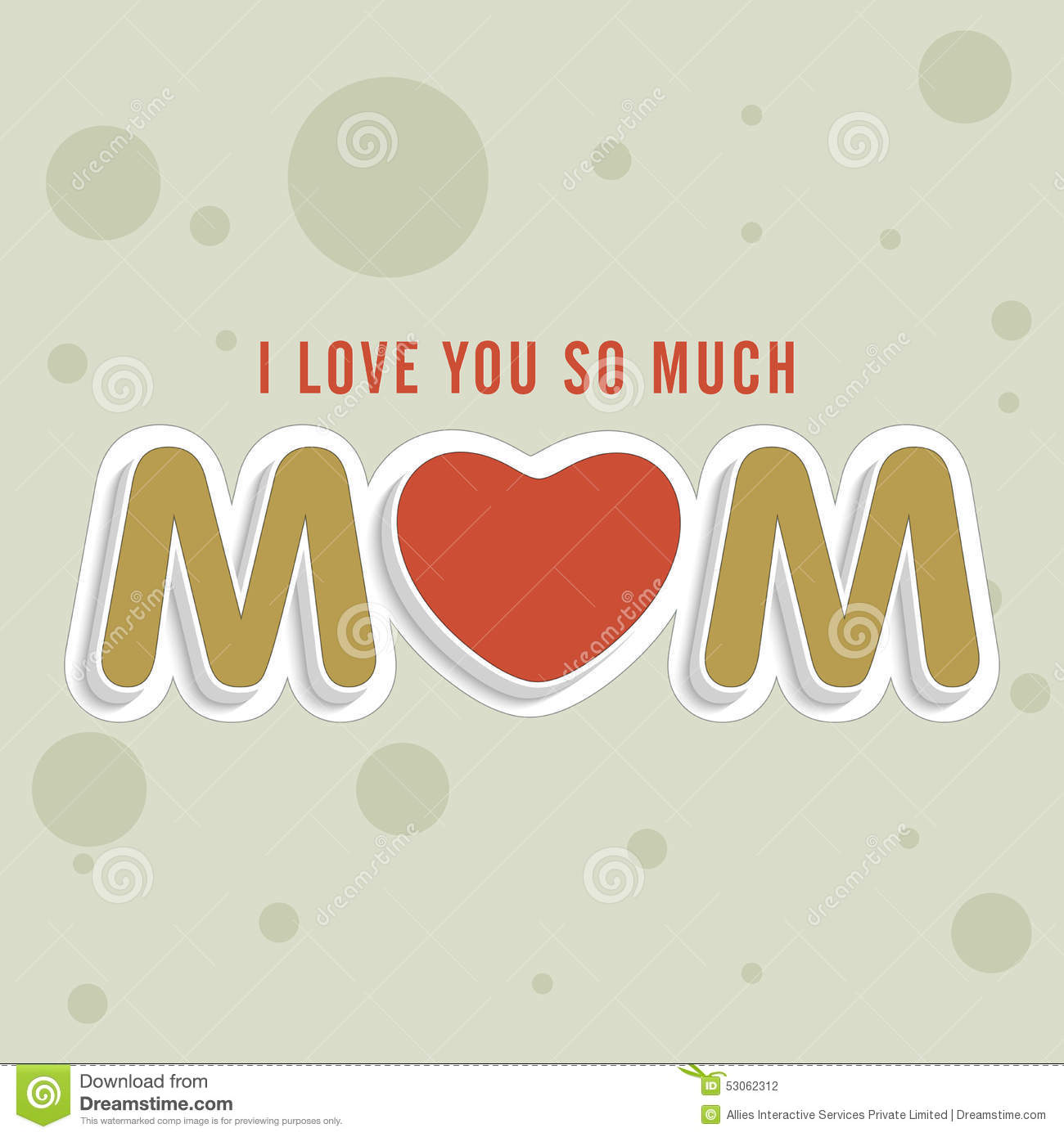Happy Mothers Day Celebration With Stylish Text Stock Illustration