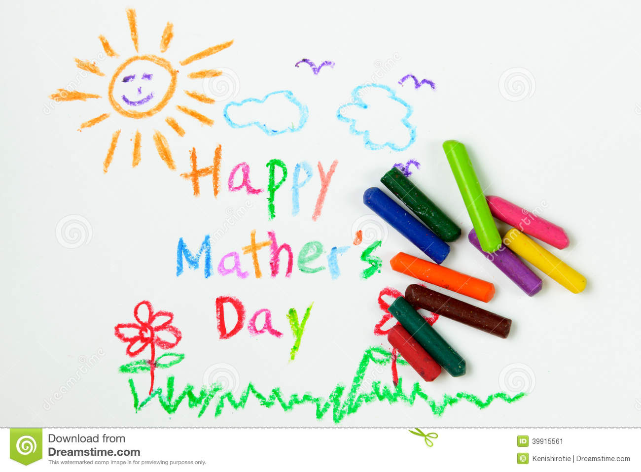 Happy Mothers Day Stock Illustration Image 39915561